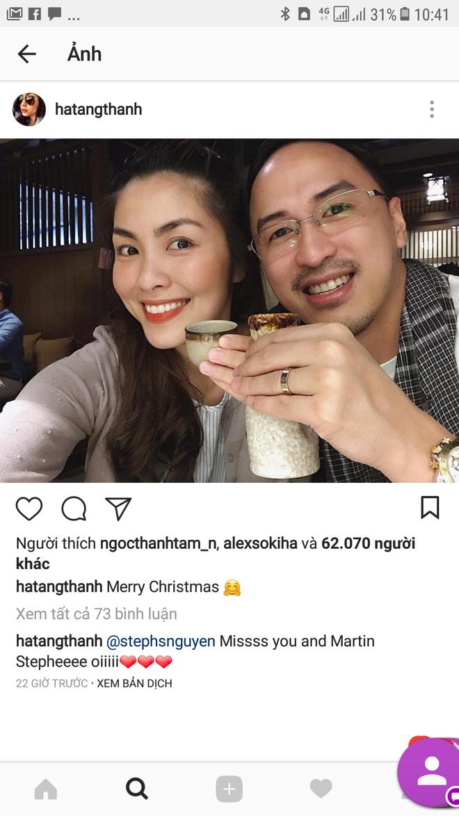 Lâu lắm rồi Tăng Thanh Hà mới công khai vai kề vai má kề má với chồng đại gia thế này - Ảnh 1.