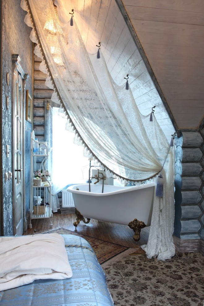 Nhà diện tích nhỏ bỗng rộng thênh thang nhờ 20 cách sử dụng rèm phân cách - Ảnh 14.