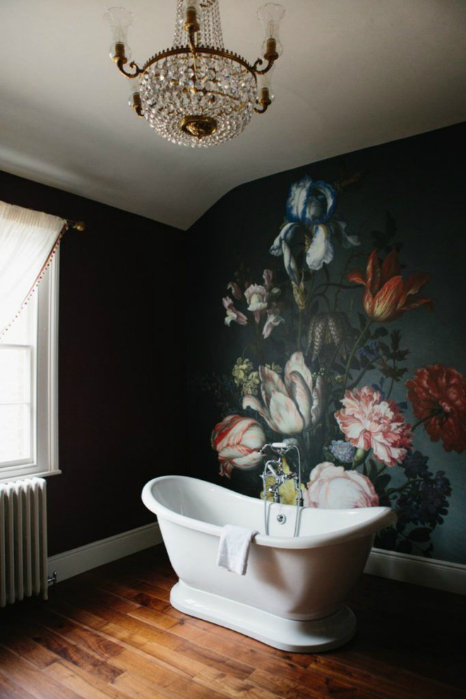 Cả ngôi nhà sẽ được F5 trong tích tắc nhờ trang trí bằng họa tiết hoa sẫm màu - Ảnh 10.