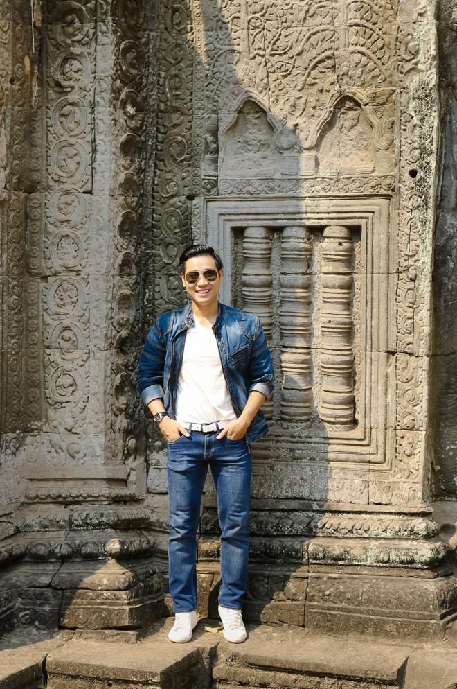 Nguyên Khang thích thú du lịch bụi, lê la vỉa hè ở Campuchia - ảnh 9