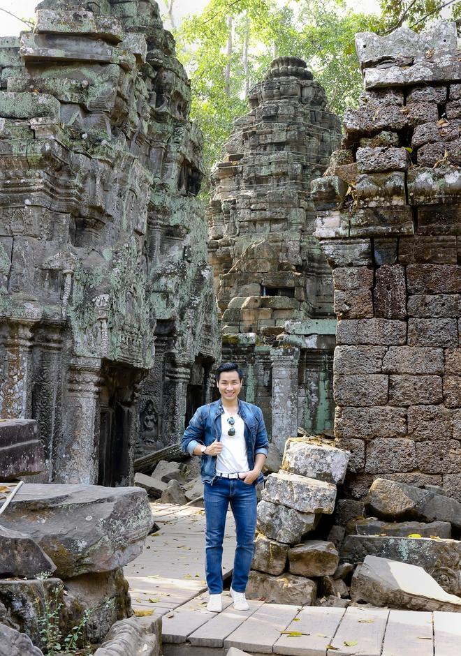Nguyên Khang thích thú du lịch bụi, lê la vỉa hè ở Campuchia - ảnh 10