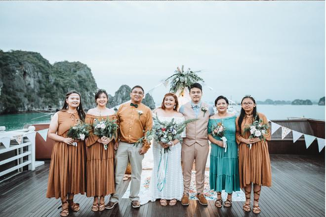 Đám cưới du thuyền đẹp mơ màng giữa sóng nước Hạ Long của cô dâu Philippines không ngại chủ động tìm kiếm tình yêu - Ảnh 14.