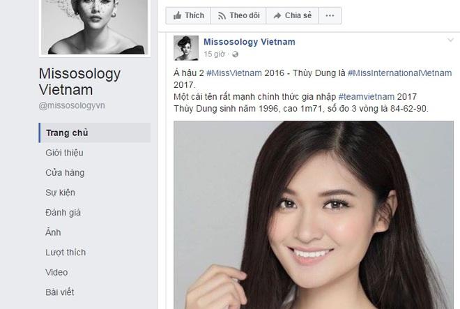Á hậu Thùy Dung sẽ đại diện Việt Nam tại đấu trường nhan sắc Miss International 2017? - Ảnh 1.
