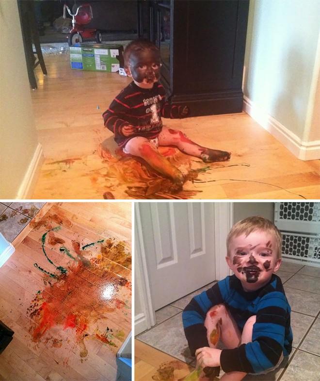28 thảm cảnh dở khóc dở cười bố mẹ được chứng kiến sau khi để lũ trẻ ở nhà một mình - Ảnh 11.