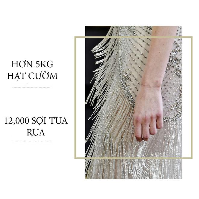 Có gì ở chiếc váy đính tới 12.000 sợi tua rua của Monique Lhuillier? - Ảnh 4.