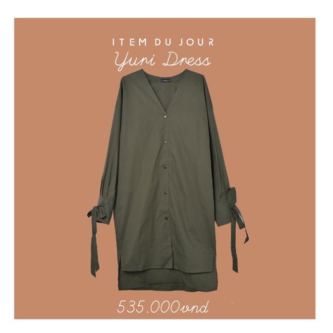 Đón thu ngọt ngào cùng những thiết kế váy liền tay lỡ mà giá chưa đến 700 ngàn đến từ các thương hiệu Việt - Ảnh 5.