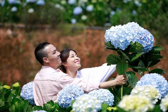 MC Hoàng Linh hạnh phúc như cô gái lần đầu biết yêu trong bộ ảnh cưới tại vườn cẩm tú cầu Đà Lạt - Ảnh 9.