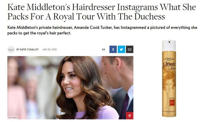 Công nương Kate Middleton cũng chỉ dùng loại keo xịt tóc phổ biến có giá chưa đến  300.000VNĐ - Ảnh 6.