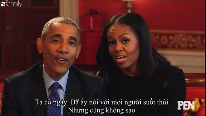 Cười ngất khi Đệ nhất phu nhân Michelle liên tục nói xấu Cựu tổng thống Barack Obama trên truyền hình - Ảnh 2.