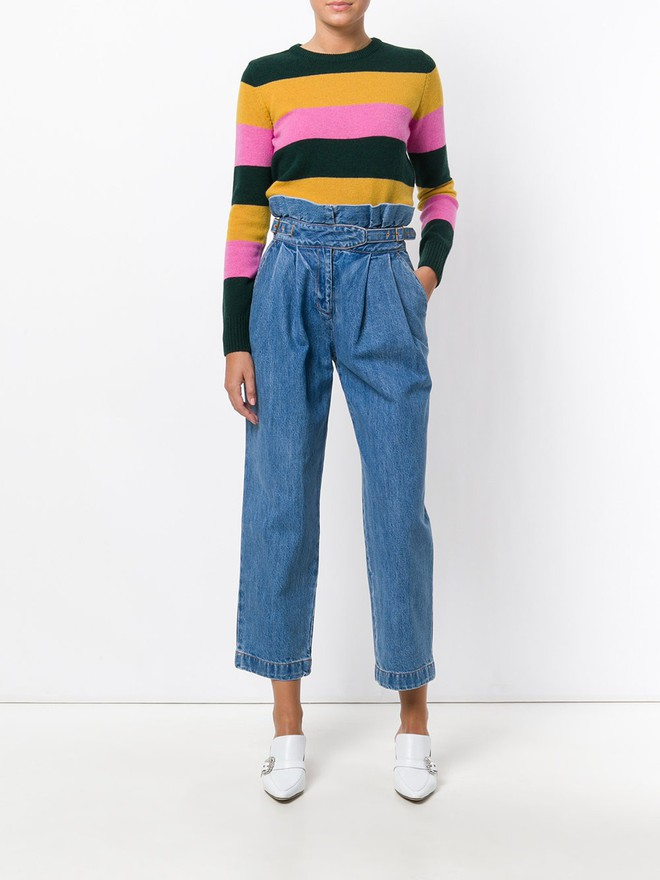 Khắp các thương hiệu thời trang, từ bình dân đến cao cấp đều đăng lăng xê kiểu áo len màu sắc này  - Ảnh 8.