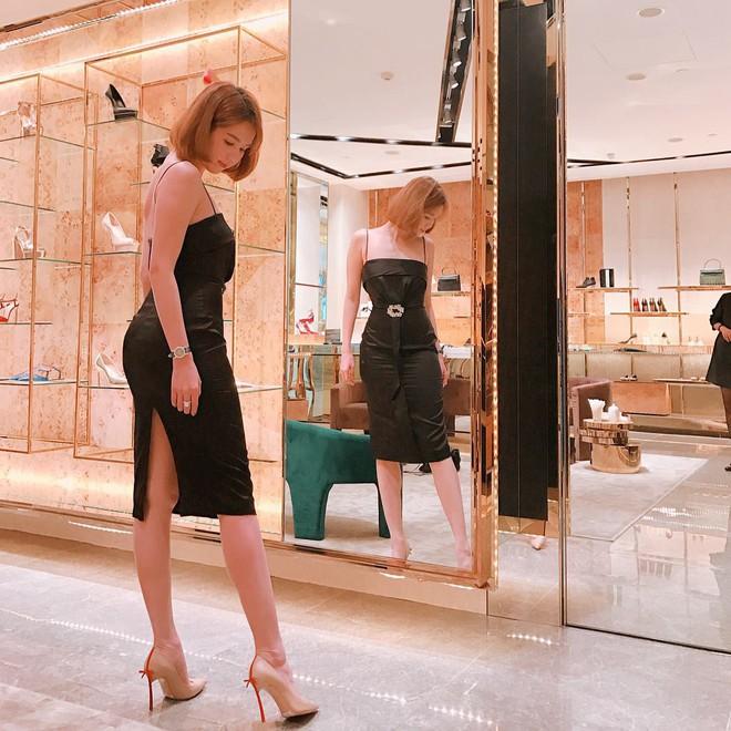 Váy đen hết trễ vai rồi lại hai dây, phong cách của Ngọc Trinh có đang nhàm chán quá không - Ảnh 10.