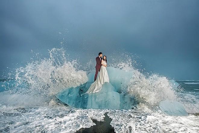 Những cô dâu vai trần thách thức thời tiết giá lạnh để có bộ ảnh cưới nghìn like - Ảnh 21.