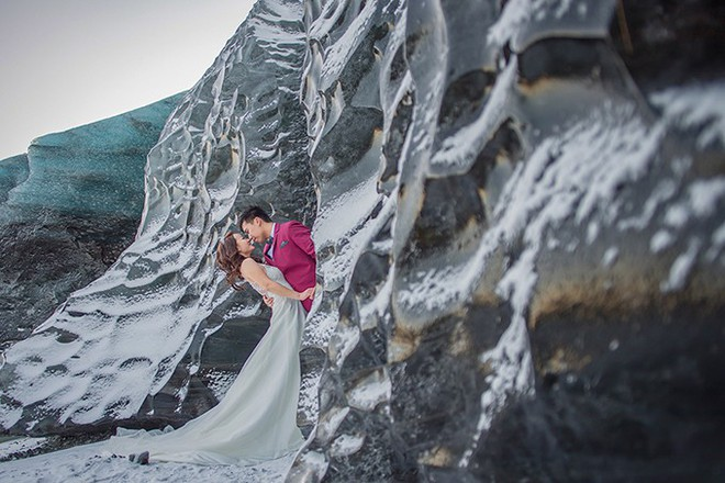 Những cô dâu vai trần thách thức thời tiết giá lạnh để có bộ ảnh cưới nghìn like - Ảnh 23.
