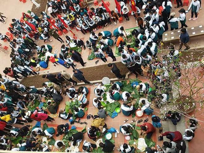 Hàng ngàn học sinh tự gói bánh chưng gửi tâm tình vào Tết yêu thương - Ảnh 18.