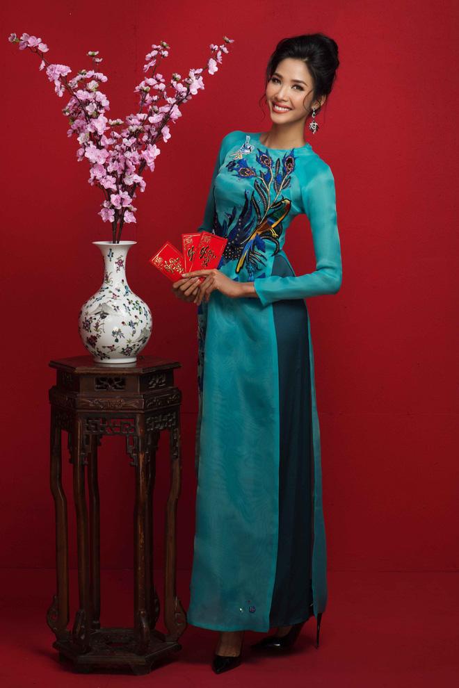 Ngất ngây trước hình ảnh HHen Niê cùng Hoàng Thùy, Mâu Thủy diện áo dài đón xuân - Ảnh 7.