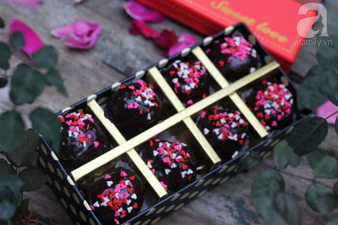 Lễ tình nhân làm ngay truffle chocolate đẹp ngon lụi tim người ấy - Ảnh 10.