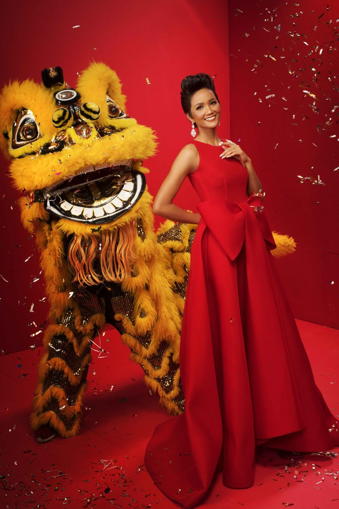 Ngất ngây trước hình ảnh HHen Niê cùng Hoàng Thùy, Mâu Thủy diện áo dài đón xuân - Ảnh 4.