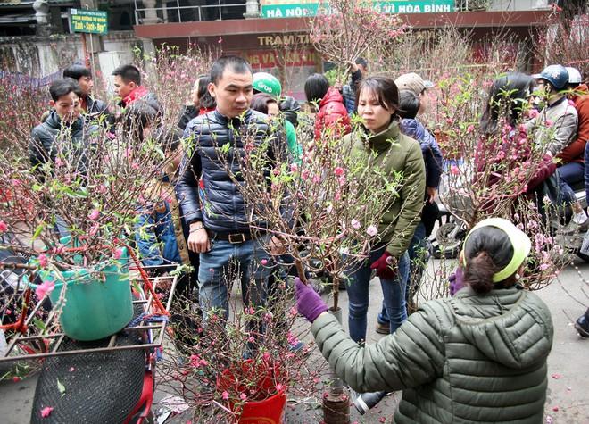 Cảnh nhộn nhịp, huyên náo tại chợ hoa cổ nhất Hà Nội ngày sát Tết - Ảnh 4.
