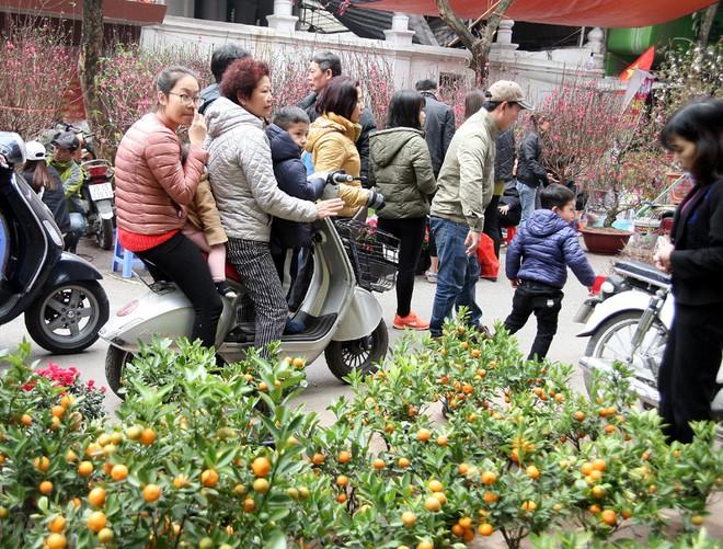 Cảnh nhộn nhịp, huyên náo tại chợ hoa cổ nhất Hà Nội ngày sát Tết - Ảnh 12.