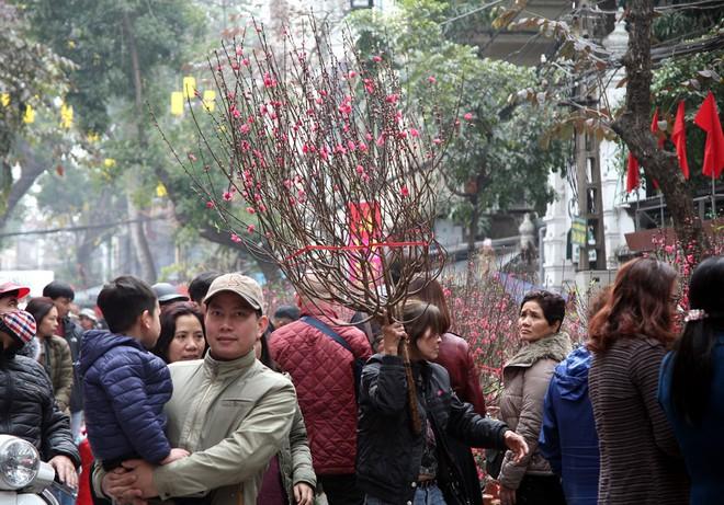 Cảnh nhộn nhịp, huyên náo tại chợ hoa cổ nhất Hà Nội ngày sát Tết - Ảnh 3.