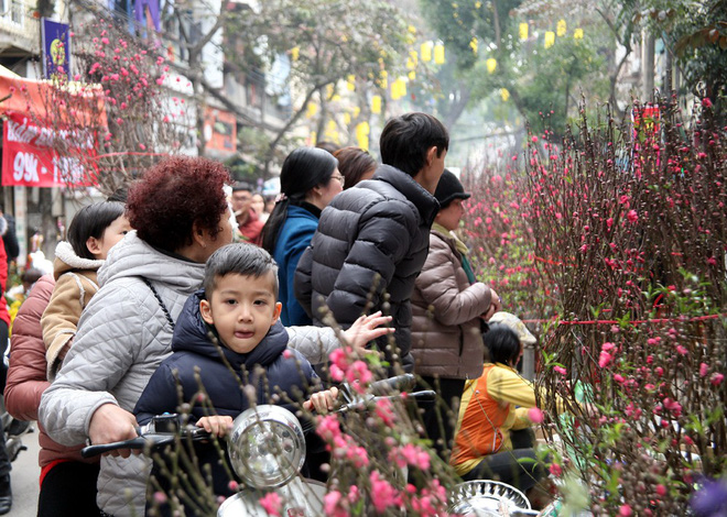 Cảnh nhộn nhịp, huyên náo tại chợ hoa cổ nhất Hà Nội ngày sát Tết - Ảnh 6.