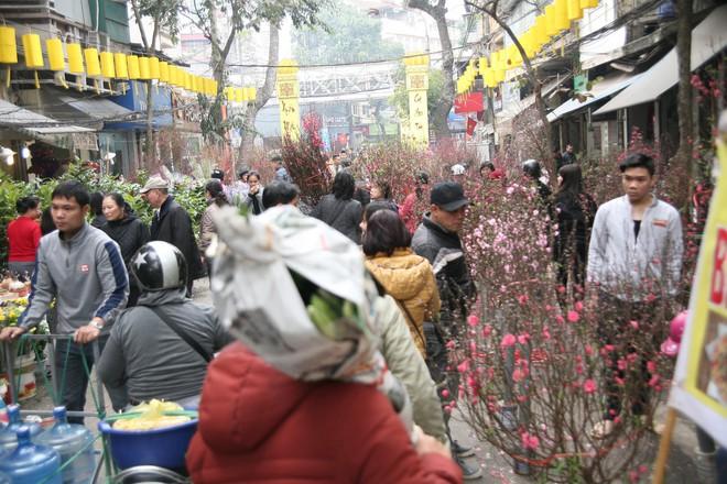 Cảnh nhộn nhịp, huyên náo tại chợ hoa cổ nhất Hà Nội ngày sát Tết - Ảnh 2.
