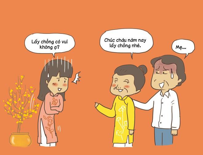 Cẩm nang thần thánh đáp trả cho gái ế ngày Tết với câu hỏi nhẵn mặt khi nào lấy chồng? - Ảnh 2.
