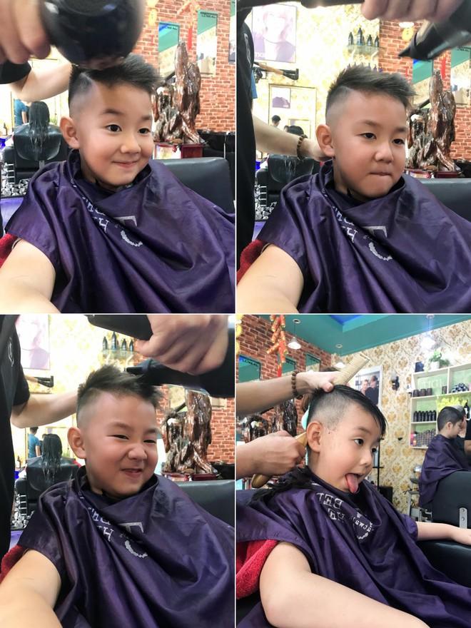 Tranh thủ dịp cận Tết, 3 cậu nhóc con sao Việt này cũng được bố mẹ đưa đi làm tóc mới - Ảnh 2.