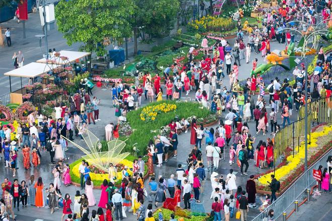 Người Sài Gòn nô nức tham quan đường hoa, hội hoa rực rỡ màu sắc - Ảnh 10.