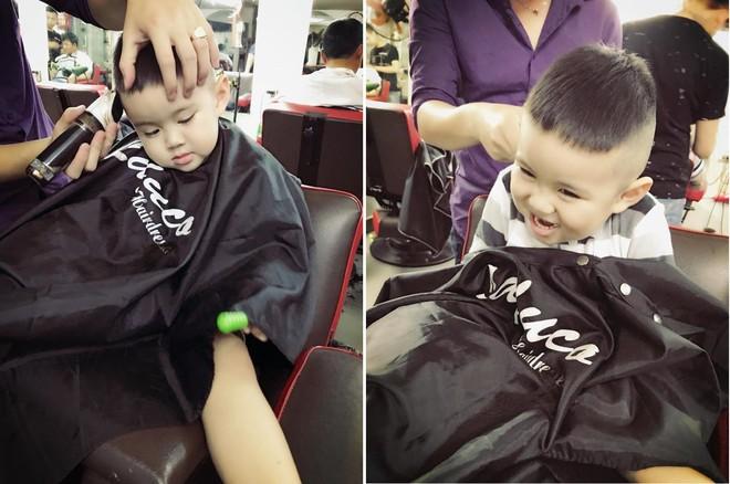 Tranh thủ dịp cận Tết, 3 cậu nhóc con sao Việt này cũng được bố mẹ đưa đi làm tóc mới - Ảnh 6.