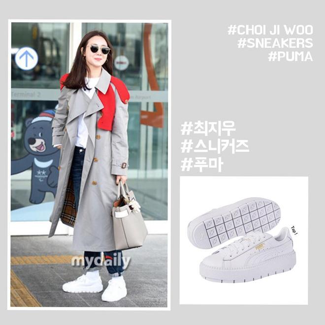 Choi Ji Woo trẻ trung diện đồ như gái đôi mươi sang London tham dự tuần lễ thời trang - Ảnh 3.