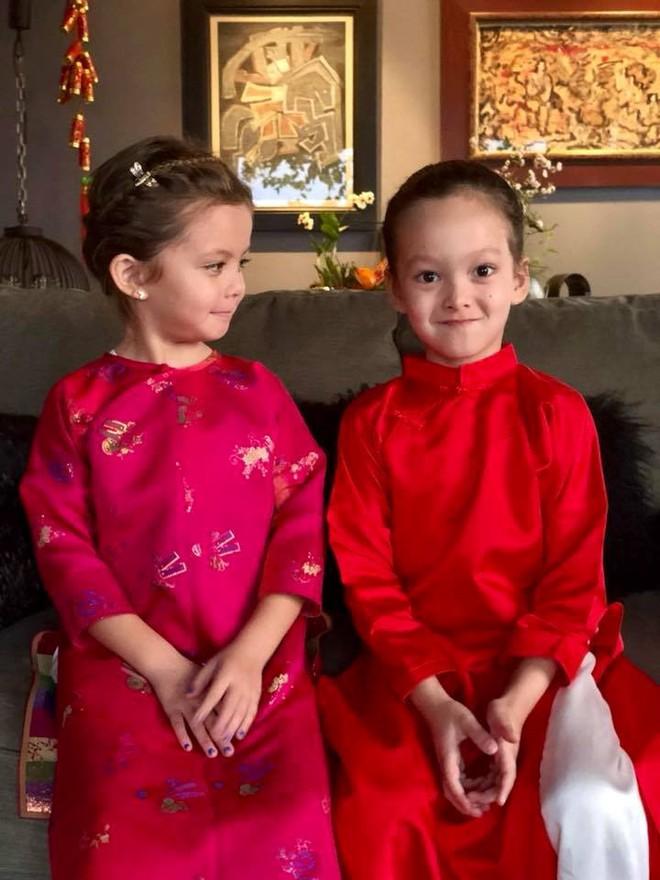 Chẳng riêng gì sao Việt, các nhóc tỳ nhà sao cũng xúng xính áo dài đón Xuân mới - Ảnh 18.