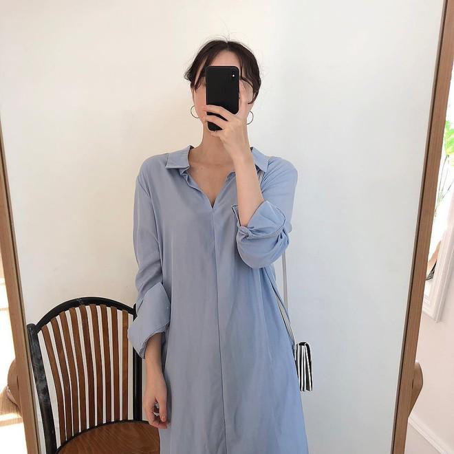 Lười mix đồ nhưng vẫn muốn trông mình thật hay ho, bạn hãy sắm ngay một chiếc váy sơ mi dáng rộng như thế này - Ảnh 3.