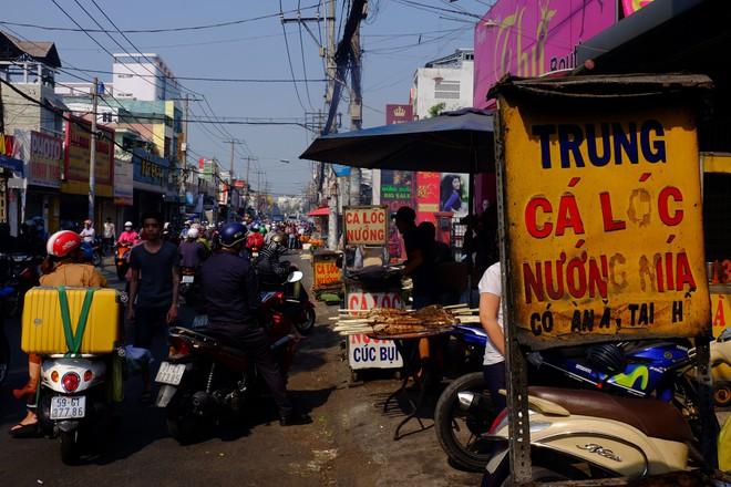 Hàng trăm người Sài Gòn rồng rắn mua cá lóc nướng cúng thần tài - Ảnh 2.