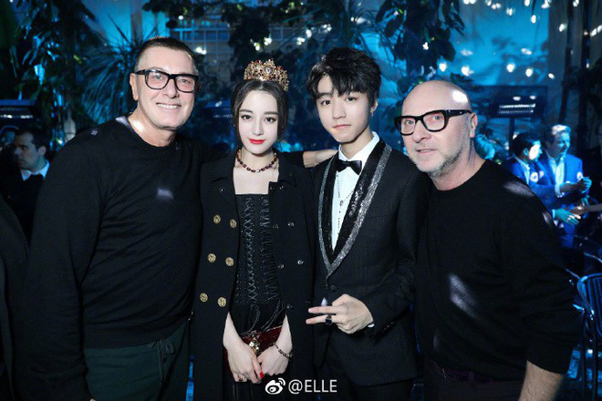 Địch Lệ Nhiệt Ba hóa công chúa sang chảnh, cùng Vương Tuấn Khải ngồi ghế đầu dự show Dolce & Gabbana - Ảnh 8.