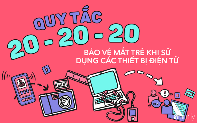 Bảo vệ mắt bé khi sử dụng các thiết bị điện tử bằng quy tắc 20-20-20 - Ảnh 2.