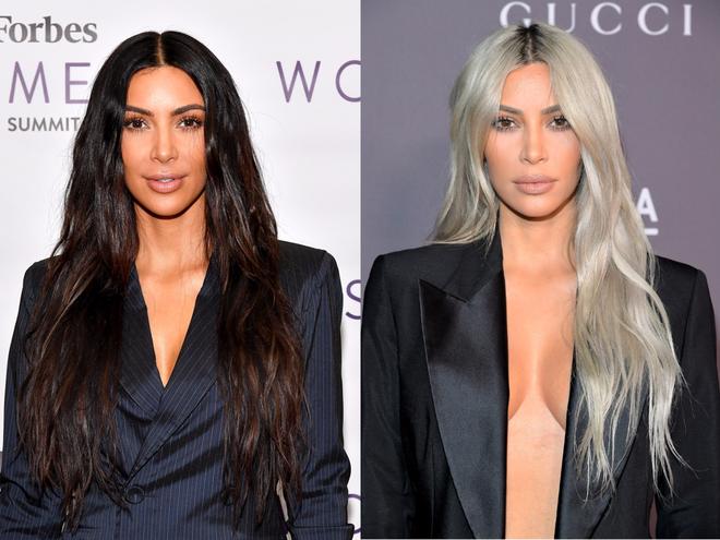 Sau lần e ấp trong chiếc váy bồng xòe, Kim Kardashian đổi luôn kiểu tóc mới màu hồng kẹo ngọt - Ảnh 1.
