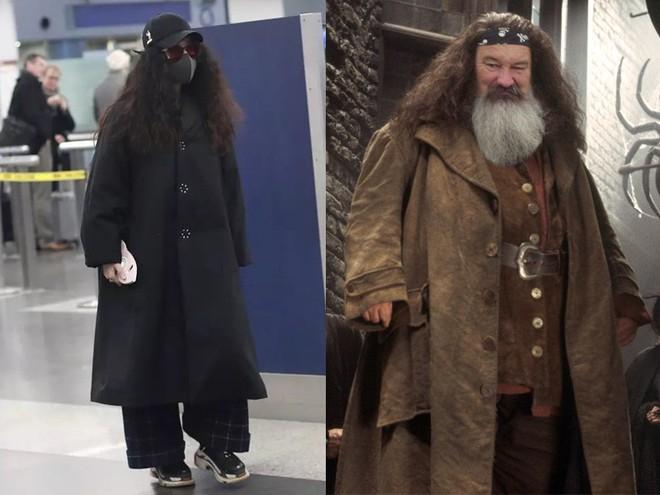 Trang phục thì lùng bùng, tóc tai xoăn xù khó tả, nhìn Phạm Băng Băng cứ như bản sao của giáo sư Hagrid trong Harry Potter - Ảnh 5.