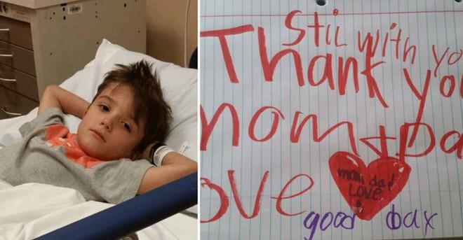 Con trai 6 tuổi qua đời trong bệnh viện, bố mẹ trở về nhà để lo hậu sự thì phát hiện mảnh giấy khiến họ đau nhói lòng - Ảnh 2.