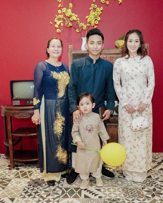 Bầu 4 tháng, Khánh Thi vẫn thon gọn đến ngỡ ngàng khi diện áo dài - Ảnh 2.