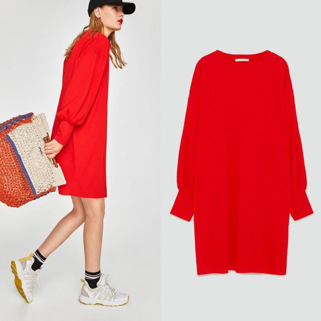 Dạo 1 vòng H&M và Zara, bạn có thể vơ được cả rổ váy đỏ có giá dưới 1 triệu mà tha hồ diện Tết này - Ảnh 2.