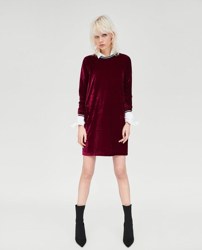 Dạo 1 vòng H&M và Zara, bạn có thể vơ được cả rổ váy đỏ có giá dưới 1 triệu mà tha hồ diện Tết này - Ảnh 7.