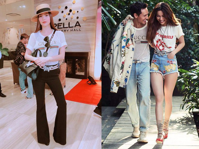 Sau khi công khai không lâu, cặp đôi Hà Hồ - Kim Lý giờ còn tình bể tình khi cùng nhau diện 1 chiếc áo - Ảnh 7.