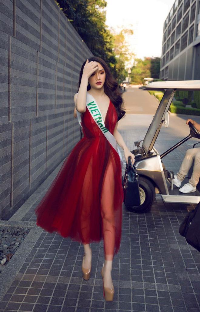 Chỉ dùng son đỏ và son cam mà Hương Giang vẫn cứ tỏa sáng ngời ngời tại Hoa hậu Chuyển giới Quốc tế 2018 - Ảnh 5.