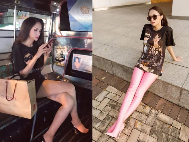 Giản dị như Hoa hậu Hương Giang, sau ngày đăng quang vẫn mặc lại áo phông cũ - Ảnh 7.