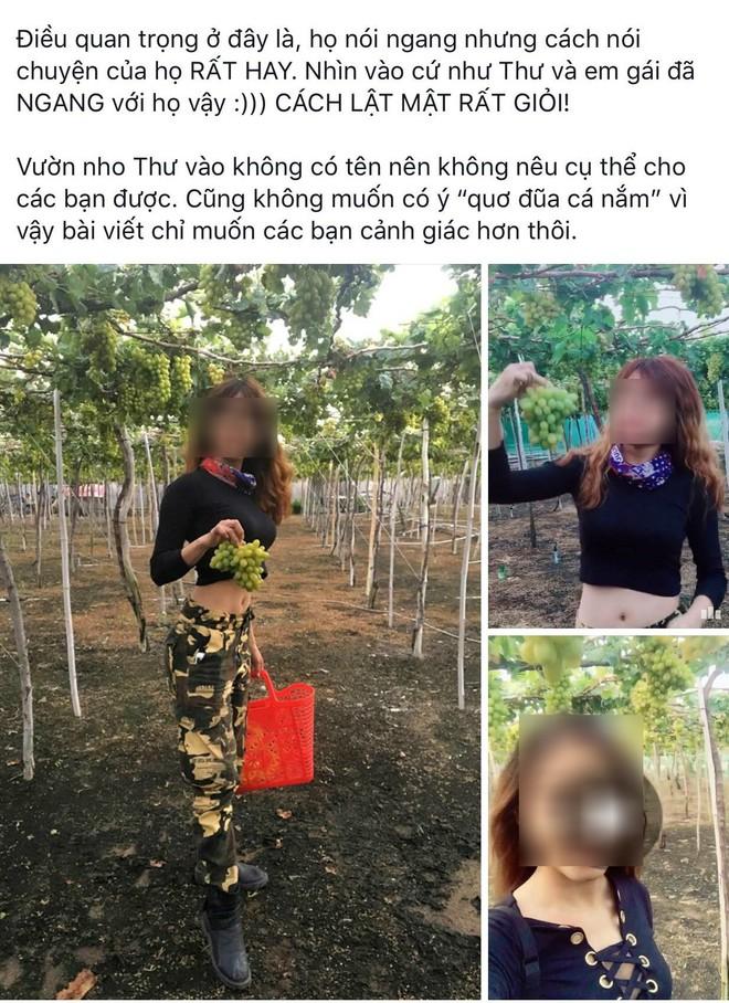 Hai cô gái phượt thủ từng đi Sài Gòn - Hà Nội trong vòng 40 tiếng lại gây tranh cãi khi tố chủ vườn nho chặt chém? - Ảnh 1.