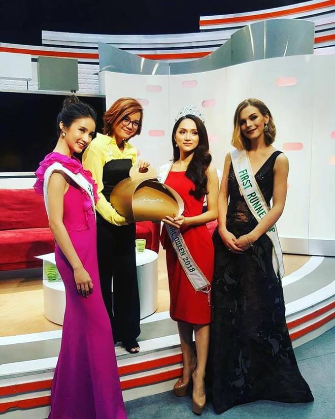 Sau đăng quang, Á hậu 1 cuộc thi Hoa hậu Chuyển giới Quốc tế 2018 cứ diện đi diện lại một chiếc váy tới 3 lần - Ảnh 3.