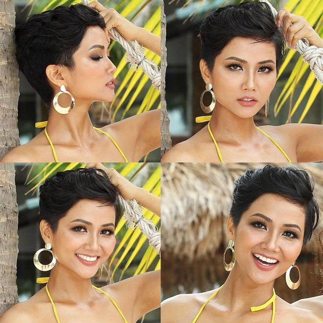 Tóc mái chéo nữ tính là thế, nhưng Hoa hậu HHen Niê lại vuốt gel nặng nề khiến nhan sắc giảm đi nhiều phần  - Ảnh 7.