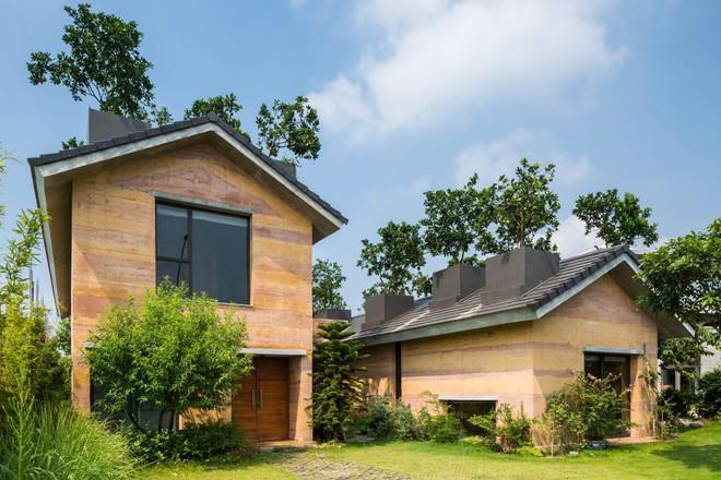 Ngôi nhà không đổ cột bê tông với vườn bưởi trĩu quả trên mái nhà ở Hà Nội - Ảnh 2.