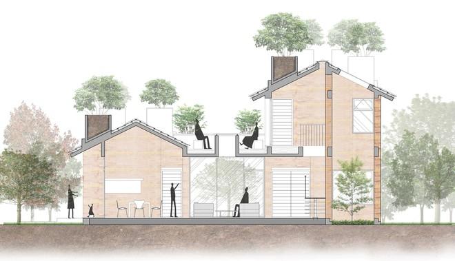 Ngôi nhà không đổ cột bê tông với vườn bưởi trĩu quả trên mái nhà ở Hà Nội - Ảnh 10.